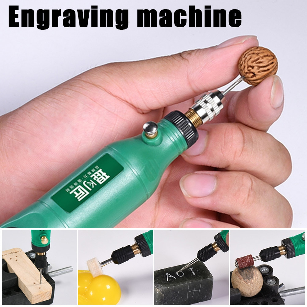 Mini USB Cordless Engraving Pen Jade Engraver Polishing Machine 3-speed Settings 15000rpm Rechargeable Electric Cutting Grinder