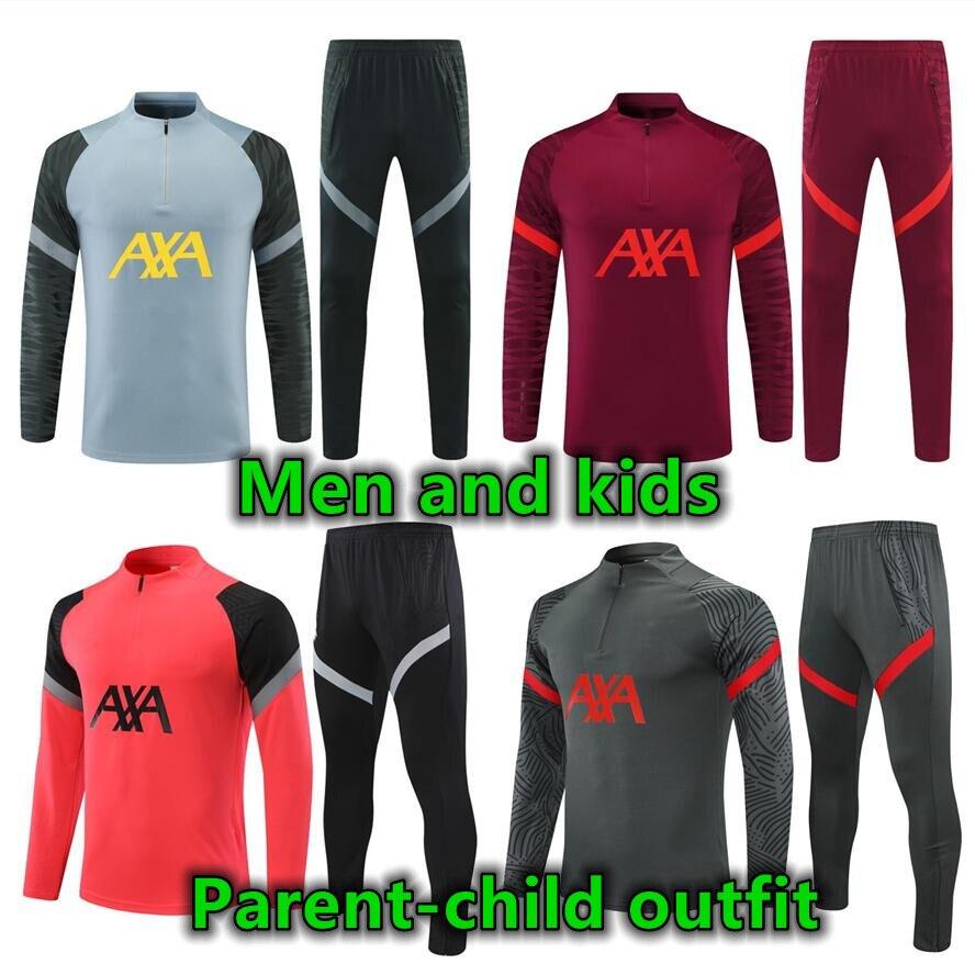 2022 بدلة الوالدين والطفل للرجال والاطفال بدلة تدريب على الركض 21 22 survetement فوت فوتبول توتا