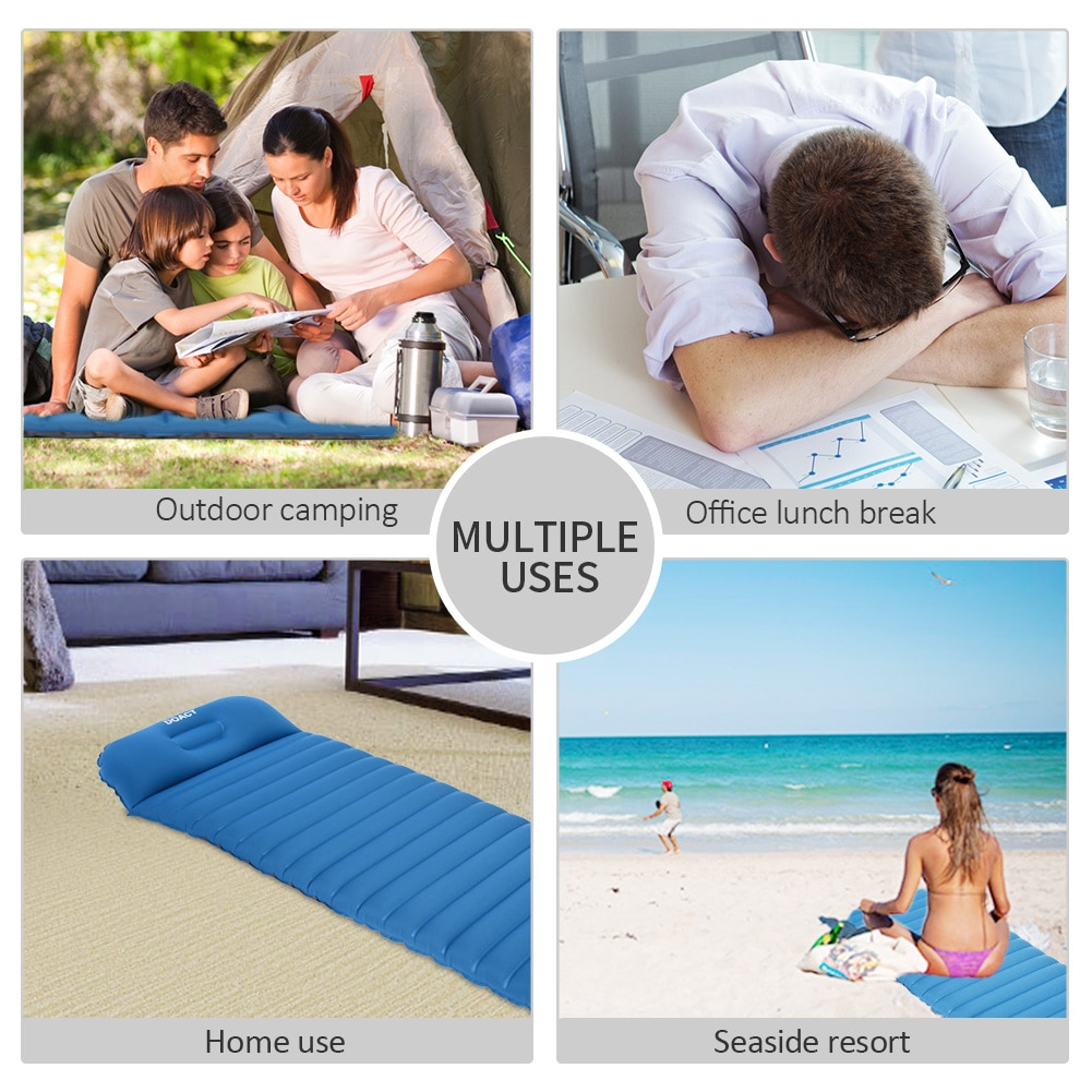 Sleep Mat Outdoor Camping Inflatable Mattress Ultralight Air Bed Portable Tent Sleeping Pad Camp Moisture-proof Pad