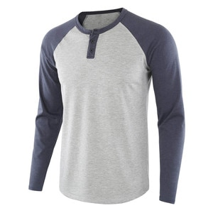 Men T-shirt Spring Summer Matching Street Casual Solid Color T-shirt Slim O Neck Patchwork P40 Long Sleeve T Shirt Top Tops Male