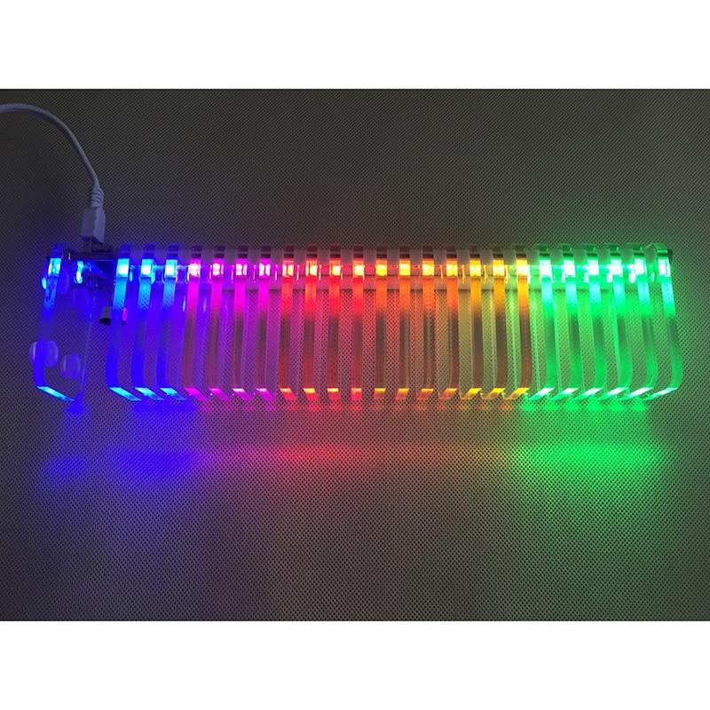 Medidor de VU de Control de sonido KS25, columna de sonido de cristal, medidor de nivel o, espectro de música LED DIY, Kits de Torre VU para cine en casa