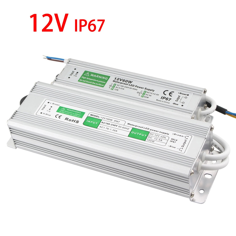 Led Driver IP67 Transformer 220 V to 12 V IP67 Power Supply LED Waterproof Power Supply Adapter Led Driver 12 V 10 W 20 W 30 W
