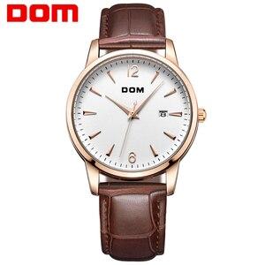 DOM 2018 New Man Watches Luxury Brand Waterproof Quartz Clock Leather Strap Business Watch Male Dress Relojes Reloj M-3311