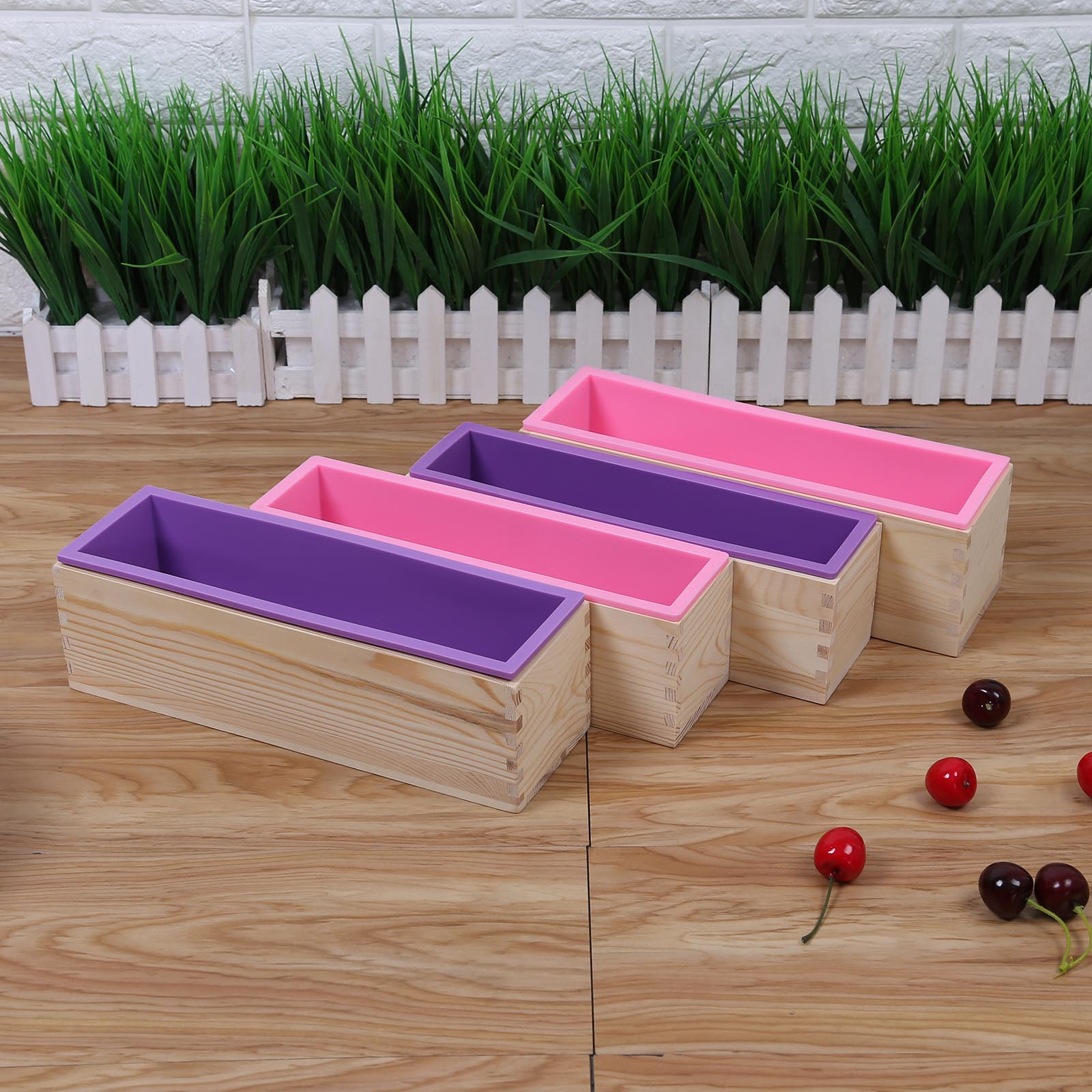 Rectangular Baking Silicone Mold Raw Wooden Box Flexible Cover DIY Handmade Cake Toast Soap Reusable Non-toxic Convenient Tool