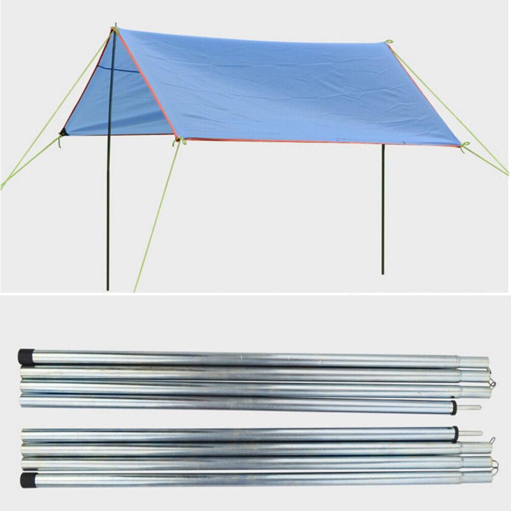8 Uds de aleación al aire libre plegable refugio solar ultraligero soporte de barra carpa de playa poste de aluminio reforzado