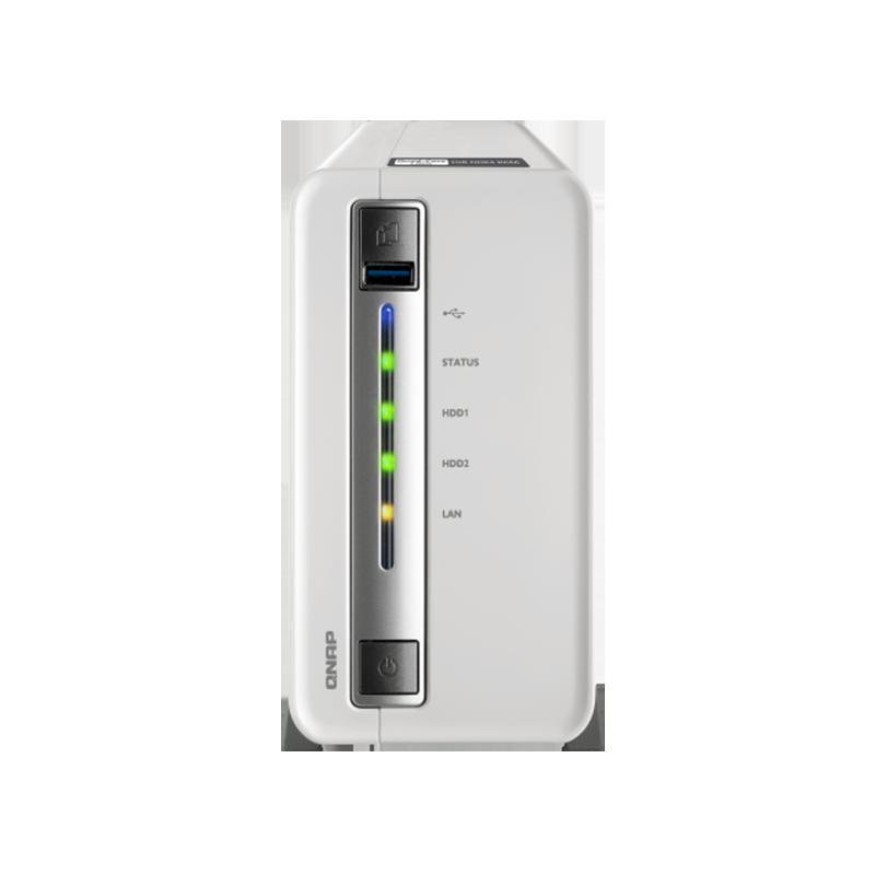 QNAP TS-212P3 , four-core dual-disk  NAS, network storage server, home private cloud server QNAP TS-212P3 nas