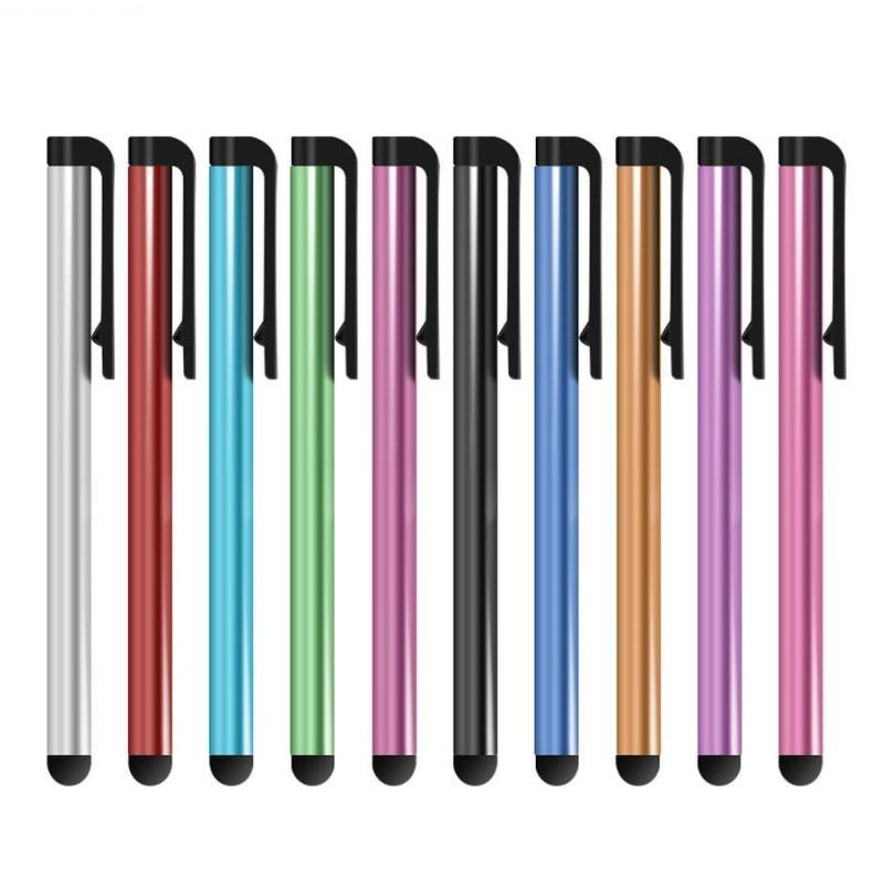 Tela de toque capacitivo caneta stylus para iphone ipad ipod touch terno para outro telefone inteligente tablet metal stylus clipe 5000 pçs/lote