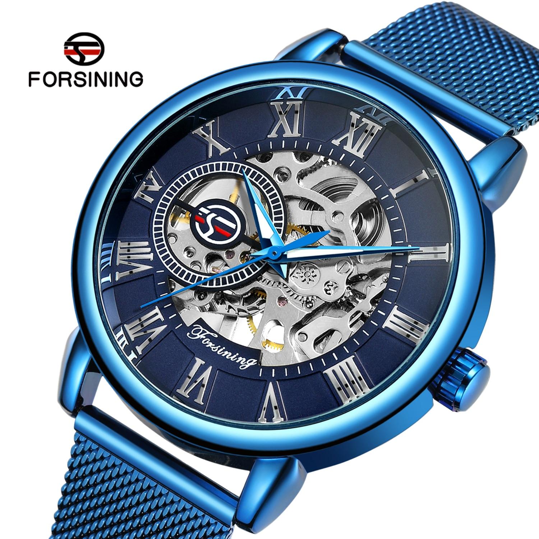 Relógio para Homem Automático de Luxo Forsining Nova Moda Pagani Design Mecânica Steeldive Marca Negócios Azul Manbreitling 2021