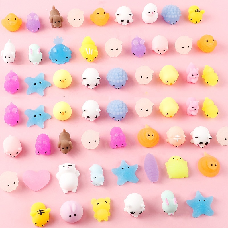 10PCS Cute Animal Decompression Toy Squishy Toy Antistress Ball Squeeze Mochi Rising Toys Abreact Soft Sticky Stress Relief Toys enlarge