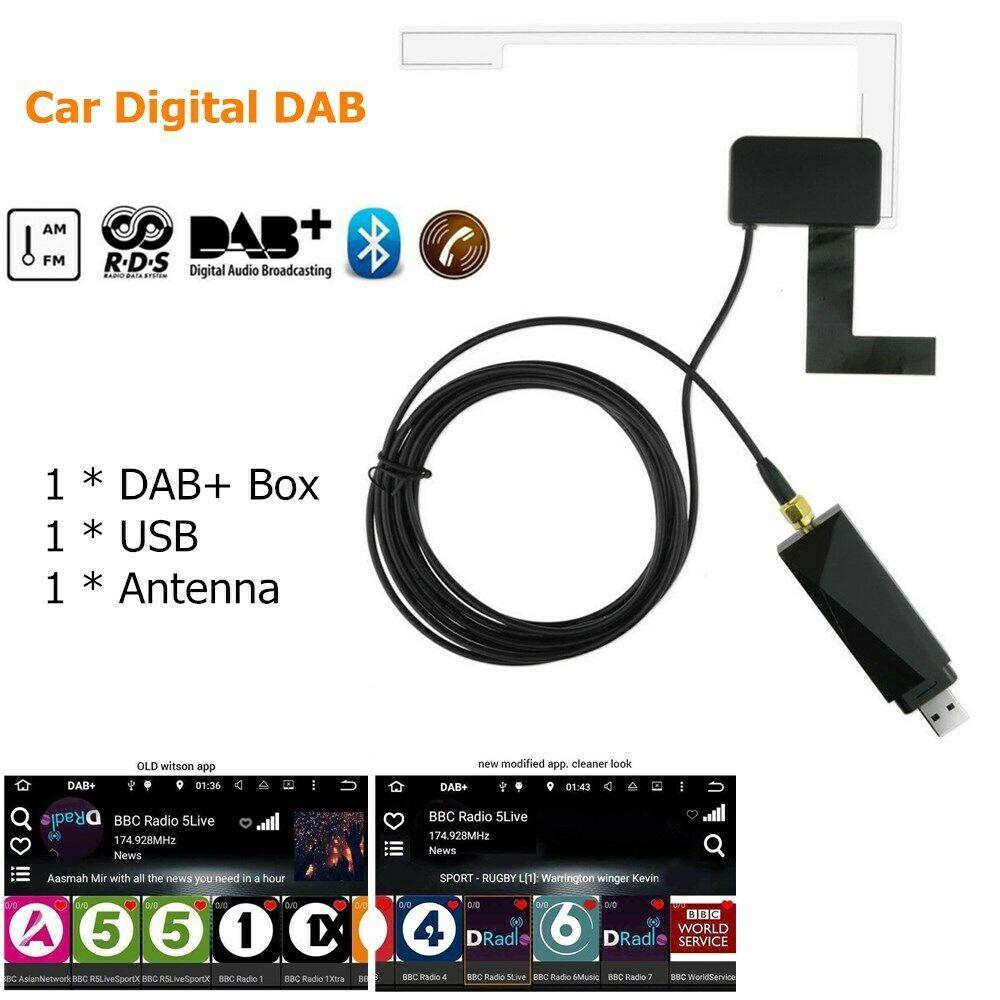 Adaptador digital dab + adaptador para carro, sintonizador de áudio, rádio, antena usb, receptor android, navi