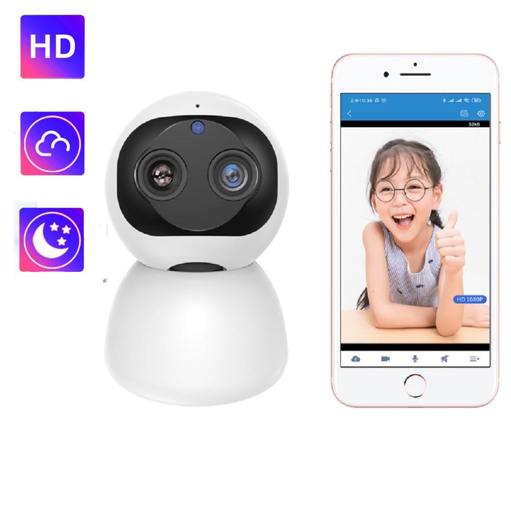 IP Camera Baby Monitor Mini Wifi Babyphone 360 PTZ HD 1080P for Home Surveillance Wireless Camara Night Vision Security Cameras