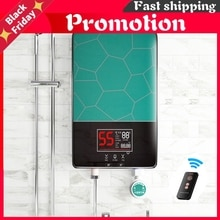 Remote Control Electric Instantaneous Hot Water Heater Bathroom Kitchen Tankless Tap Heating Shower