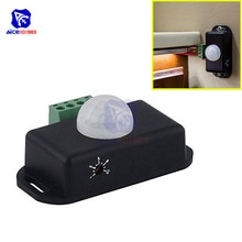 diymore Infrared PIR Sensor LED Motion Sensor Switch Motion Timer Function Sign Control PIR Controller LED Strips DC 12 -24V 8A