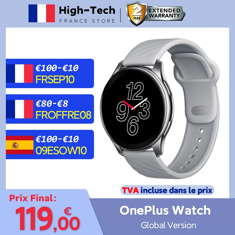 OnePlus Watch Global Version Smart Watch Blood Oxygen Bluetooth 14 Days Battery Life 1.39'' AMOLED GPS For OnePlus 9 9Pro 8 8T