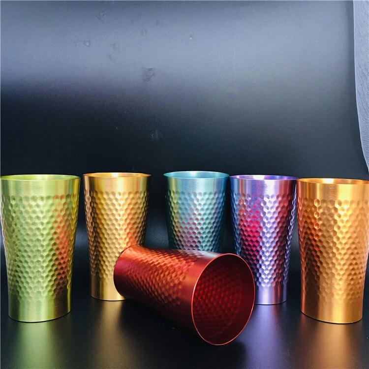 جديد مخصص الألومنيوم الإبداعية الضرب كوب الألومنيوم كوب للبيرة الألومنيوم سريعة المجمدة القهوة القدح