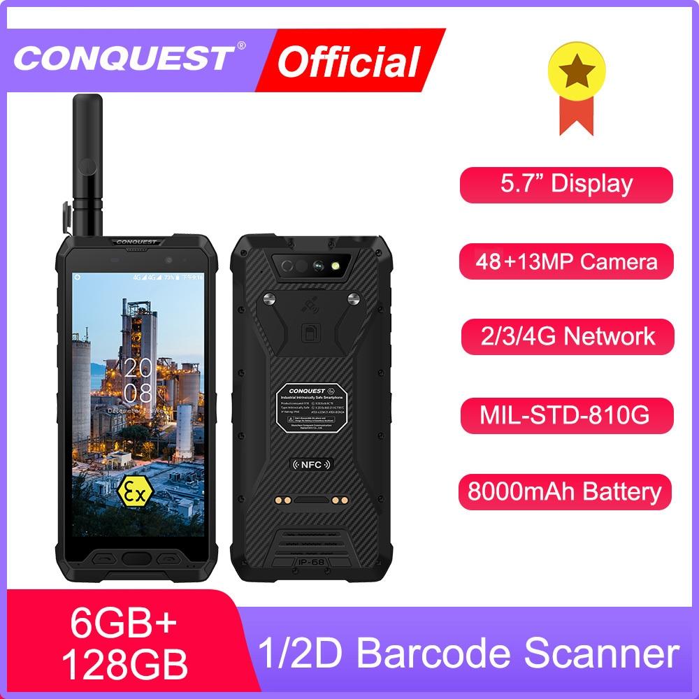2021 New CONQUEST S18 ATEX Walkie Talkie phone IP68 Waterproof Rugged Smartphone  Mobile Phone 4G LTE Global Version Cell Phone