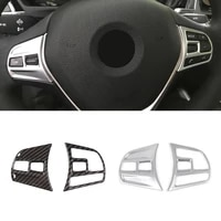 for bmw 3 series 3gt f30 f34 2016 2017 2018 carbon fiber texture car steering wheel panel switch button frame cover sticker trim