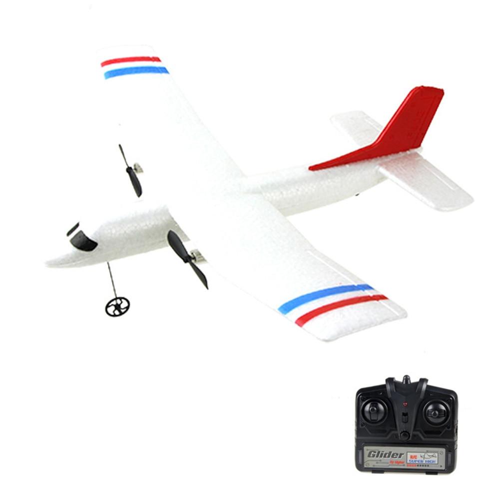Mini avión blanco de Control remoto de espuma de avión de regalo para niños