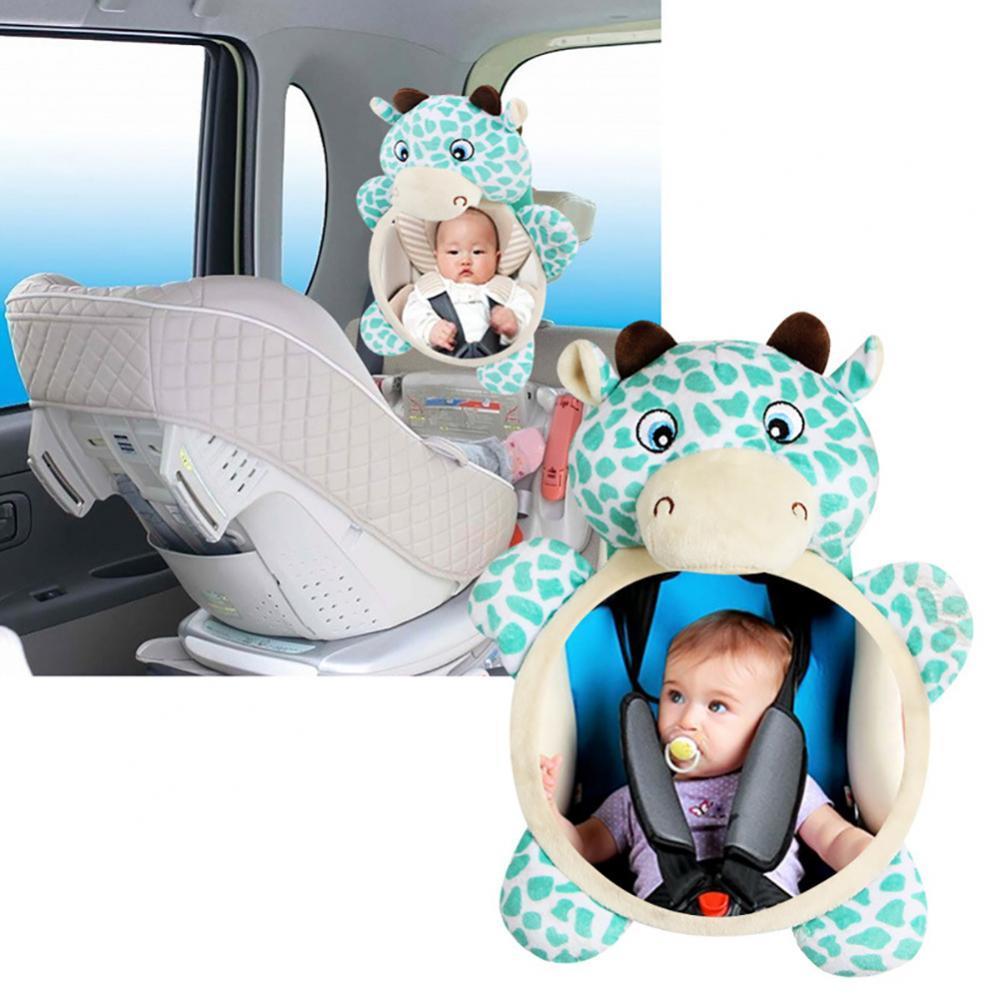 Горячая Распродажа 80%, автомобильное детское кресло-подголовник с мультяшным животным, крепление для зеркала заднего вида с широким обзоро...