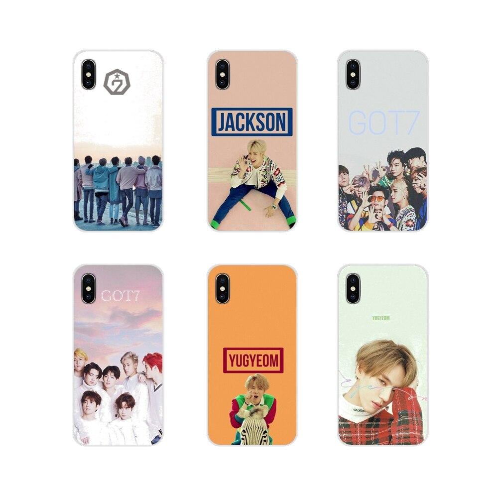 Got7 Kpop Accessoires coques de téléphone Couvre Pour Apple iPhone X XR XS 11Pro MAX 4S 5S 5C SE 6S 7 8 Plus ipod touch 5 6