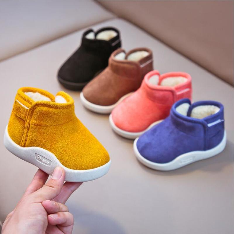 kids winter snow boots boys girls mid calf slip resistant children s rubber boots plush warm outdoor casual shoes size 24 39 Infant Toddler Boots 2020 Winter Baby Girls Boys Snow Boots Warm Plush Outdoor Soft Bottom Non-Slip Children Boots Kids Shoes