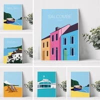 saltdean lido poster print brighton poster coastal print modern wall decor art deco wall art gift ideas