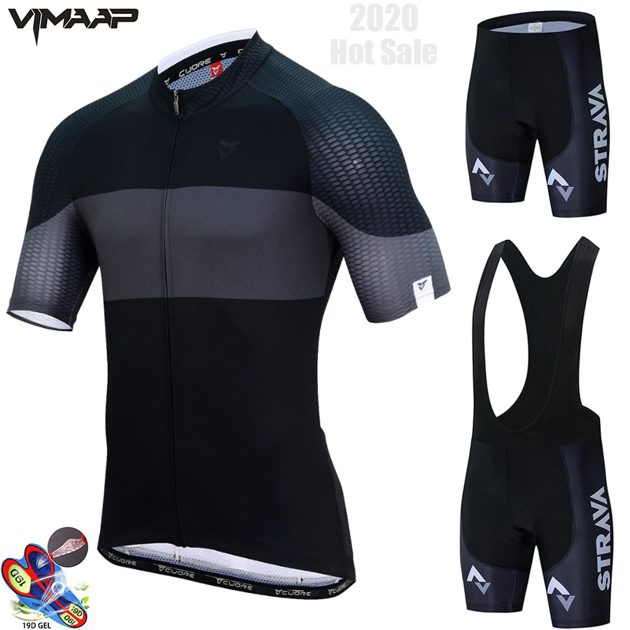 Strava, roupa esportiva masculina para ciclismo, mtb, respirável, manga curta, novo, 2020