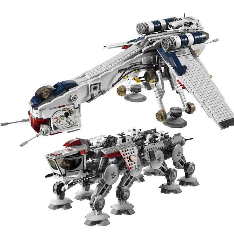 Andador de AT-OT de la guerra de las galaxias, juguete de bloques...