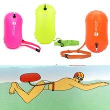 Épaissi PVC bouée de natation flotteur de sécurité Air sac sec remorquage flotteur natation gonflable sac de flottaison ceinture de sauvetage Sports nautiques