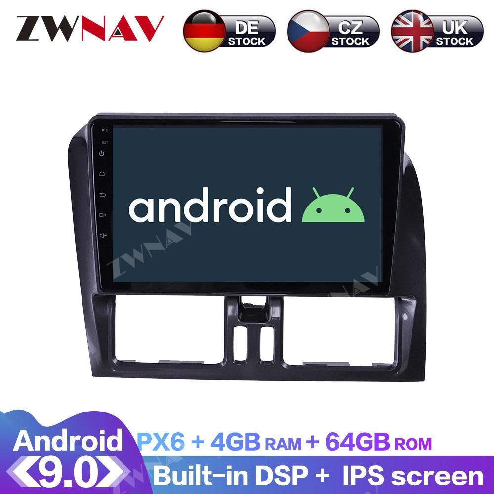 Android 9.0 com dsp carplay tela ips para volvo xc60 2009 2010 2011 2012 rds navegação gps do carro rádio dvd player multimídia