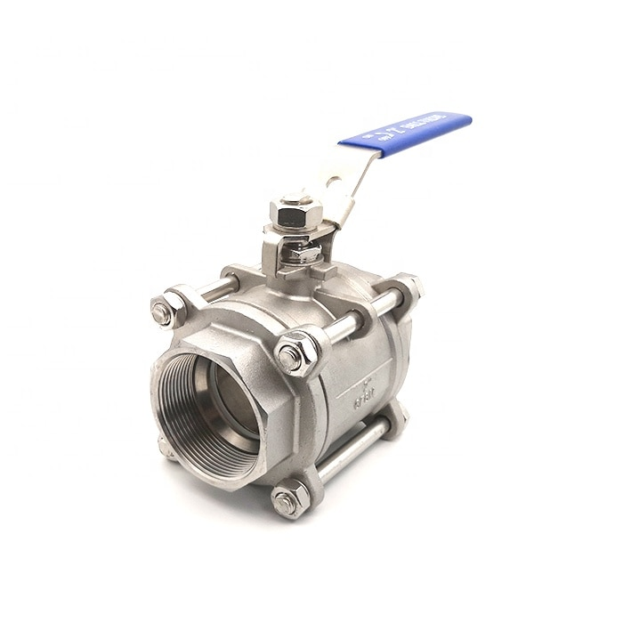 dn25 high temperature stainless steel ball valve 3 piece body enlarge