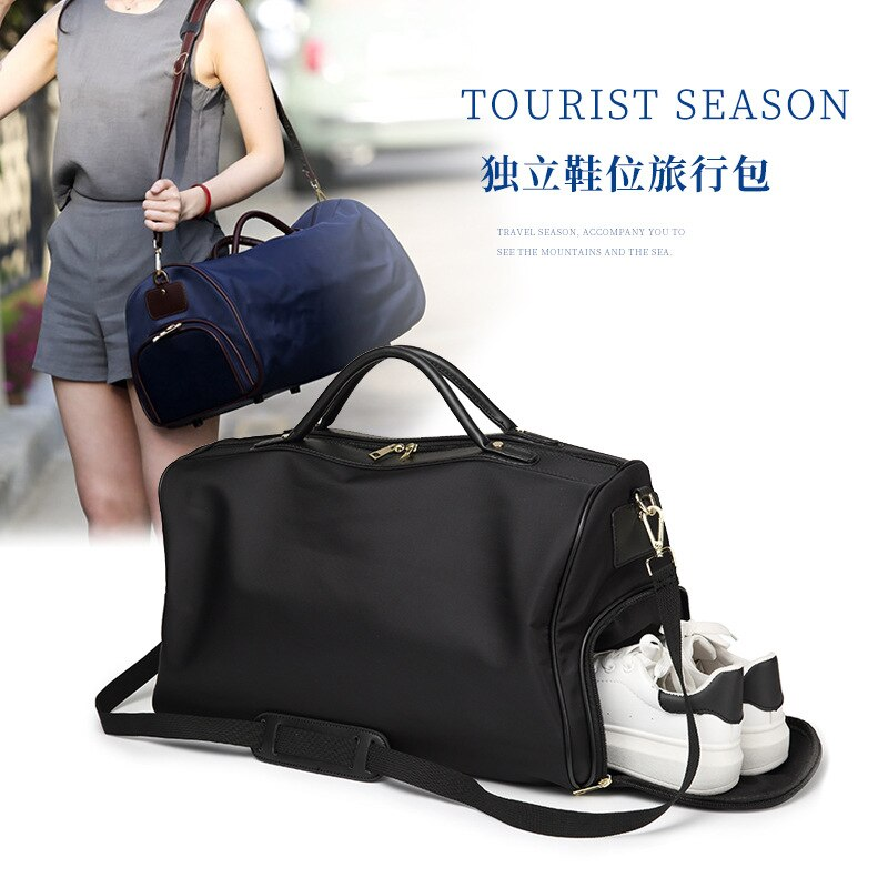 Korean-style Travel Bag Nylon Oxford Cloth Waterproof Bag Women's Oblique Bag Sports Fitness Luggage