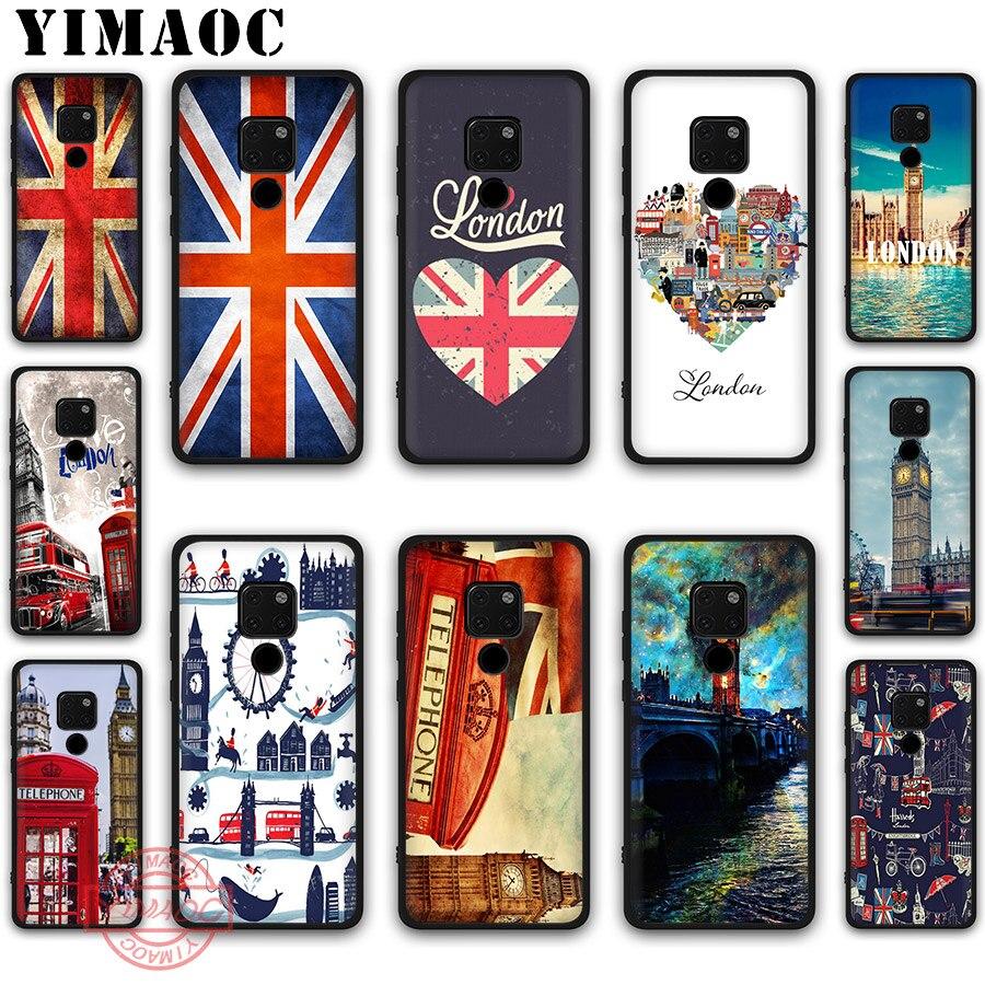 Funda de silicona suave YIMAOC bandera Reino Unido Londres para Huawei Mate 10 20 30 Lite Pro Nova 2i 3i 3 4 5i 2 Lite