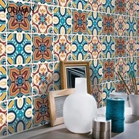 pvc tiles wall paper stickers for bathroom kitchen tile stickers decor adhesive waterproof wall stickers kitchen home decoration