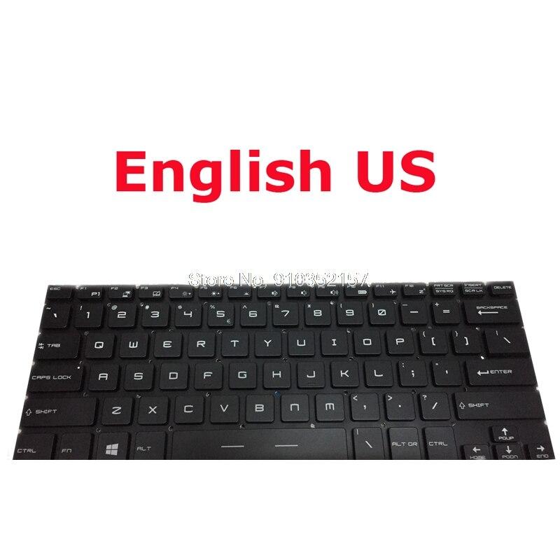 MS-14A1 14A2 14A3 keyboard for msi GS30 2M-001US 2M-046US GS32 6QE-004US GS40 6QE-001US 6QE-003US GS43VR 6RE-006US الإنجليزية