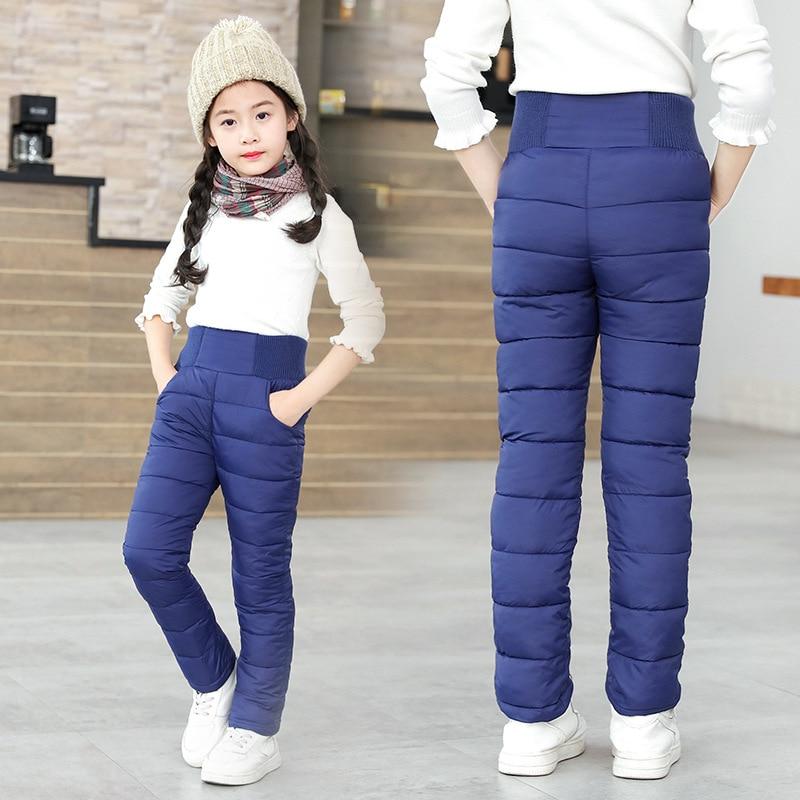 AliExpress - Toddler Kid Boys Girls Winter Pants Cotton Padded Thick Warm Trousers Waterproof Ski Pants 9 10 12 Year High Waist Leggings Baby