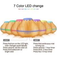 Diffuseur darome pour maison  en bois  humidificateur dair  diffuseur dhuile essentielle  lampe daromatherapie electrique  400ml