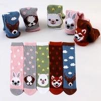 new cotton socks winter funny print cartoon animal warm socks kawaii cute casual happy fashion designer socks for men women