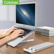 Regolabile Pieghevole di Plastica Supporto Laptop Notebook di Sollevamento di Raffreddamento Holder Desk Supporto Laptop Per 7-15 pollici Macbook Pro Air