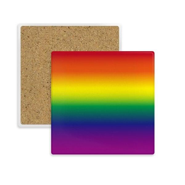 التدرج المثليين قوس قزح وطي مربع كوستر كأس القدح حامل ماصة الحجر للمشروبات 2 قطعة هدية