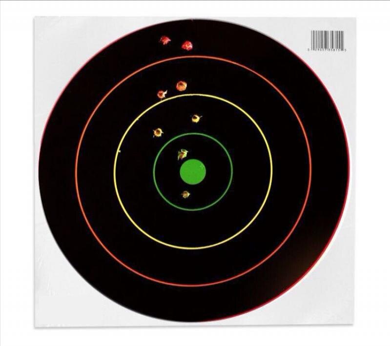 TOtrait истинное приключение 12-дюймовый съемки флуоресцентный лист-мишень пистолет лист-мишень съемки Охота обучение хит лист-мишень