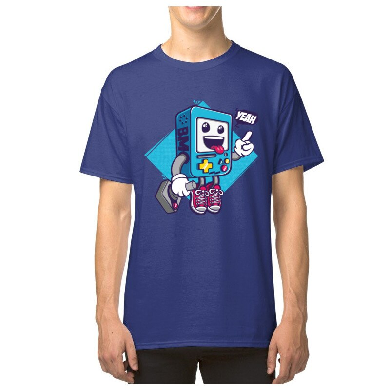 Gran oferta, camiseta para hombre con controlador BMO de videojuegos, camiseta Casual de dibujos animados, camiseta divertida de algodón Adventure TIME, Camiseta con cuello redondo, envío gratis