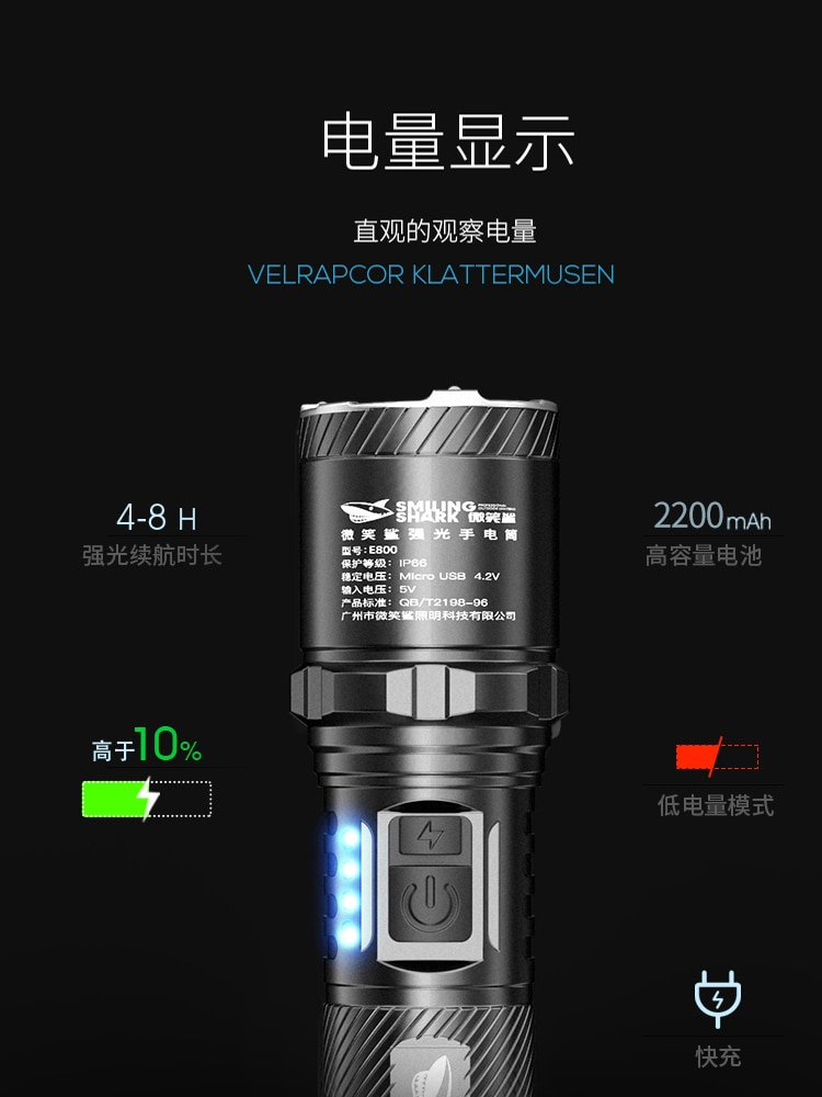 Portable Military Flashlight Camping Outdoor Powerfu Tactical Waterproof Flashlight Lanterna Tatica Lighting Torches DB60SD enlarge