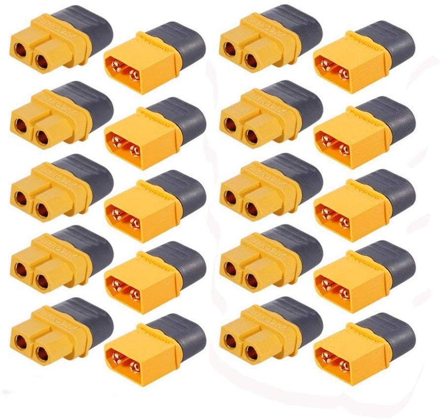 MCIGICM 10 Pair XT60H (XT60 Aggiornamento) Maschio Femmina Proiettile Connettori Spine di Alimentazione