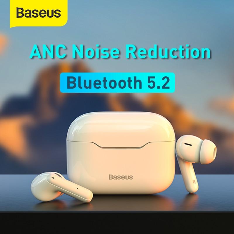 Baseus TWS ANC سماعة لاسلكية تعمل بالبلوتوث 5.2 سماعة S1/S1Pro نشط إلغاء الضوضاء مرحبا فاي سماعات التحكم باللمس الألعاب سماعات