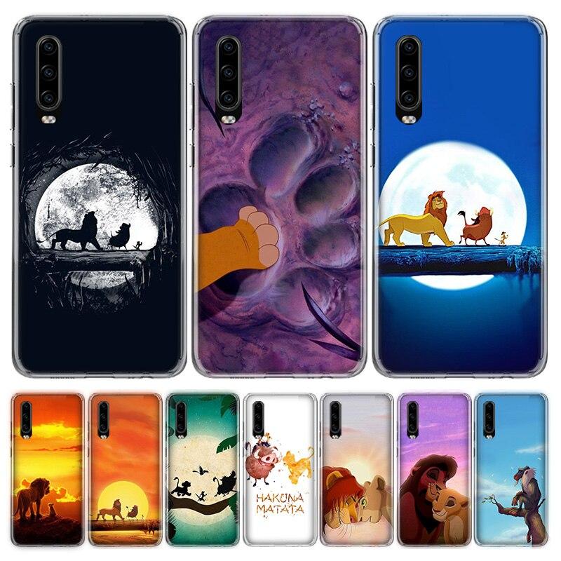 Funda de teléfono hakuna matata The Lion King para Huawei P40, P30, P20, P10, Mate 10, 20, 30 Lite Pro P Smart Z Plus 2018, funda