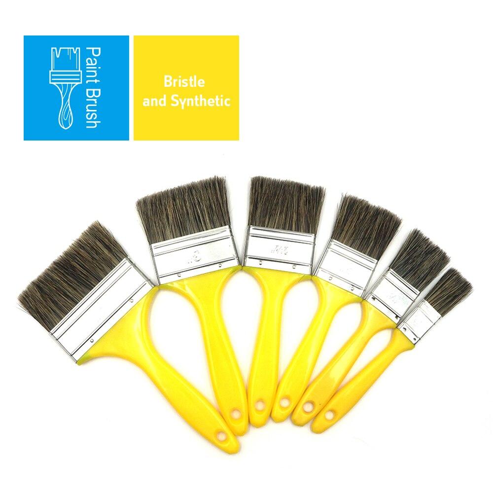 BRAKEMAN бытовой Краски кисти Краски ing набор «сделай сам» для Пластик ручка для стен чистки Краски время очистки 6 шт. в комплекте, на возраст 1, 2,...