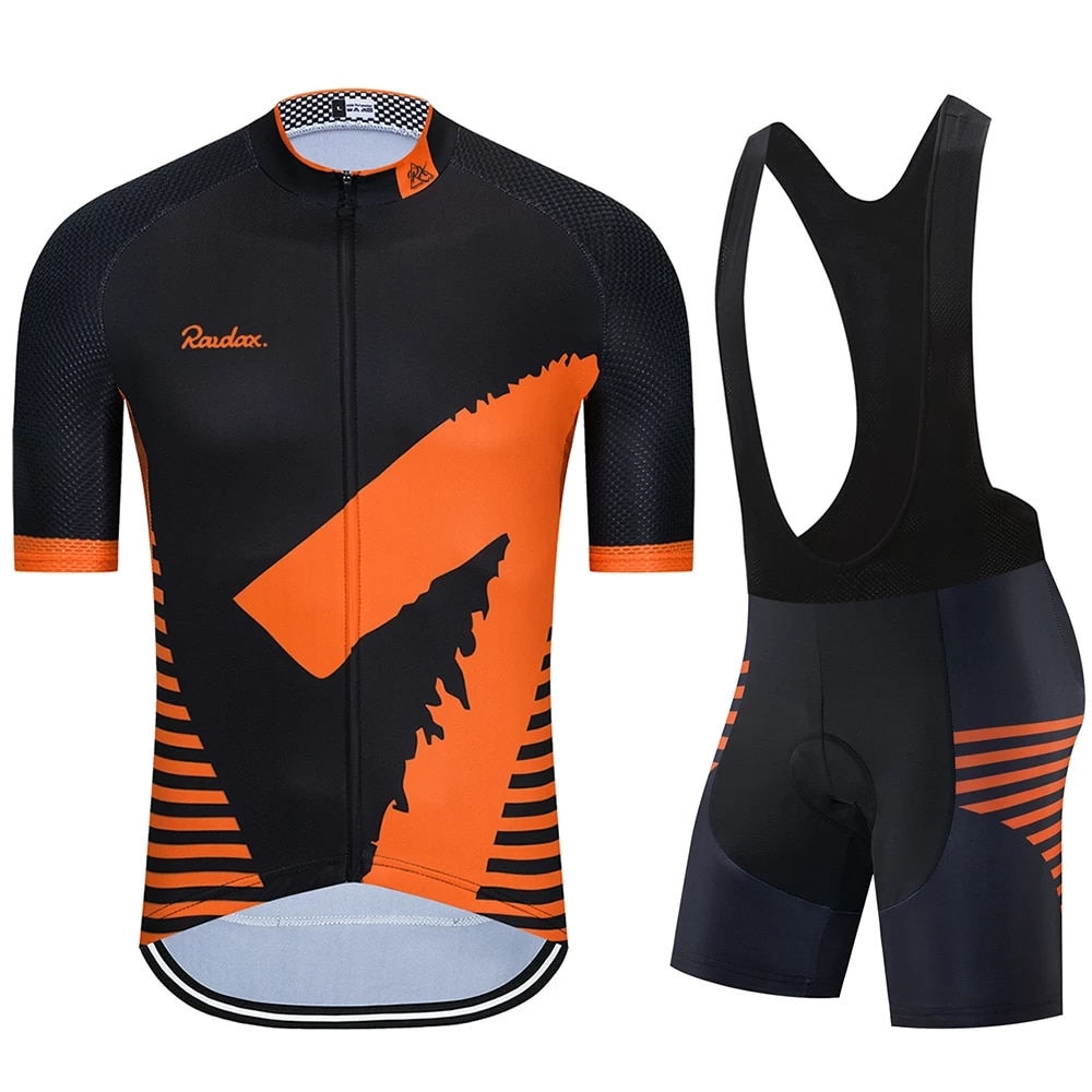 Raudax-Ropa de Ciclismo profesional para Hombre de conjunto de manga corta de...