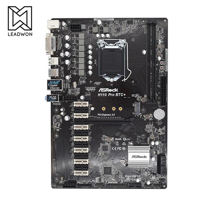 جديد ASRock H110 Pro BTC + 13GPU التعدين اللوحة الأم CryptoCurrency