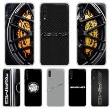Coque de luxe Mercedes Benz AMG coque de téléphone transparente pour SamSung Galaxy S 7 8 9 10 11 20 a 20e 50 51 70 71 Plus Edge Ultra